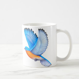 Flying Eastern Bluebird Avian Art Mug