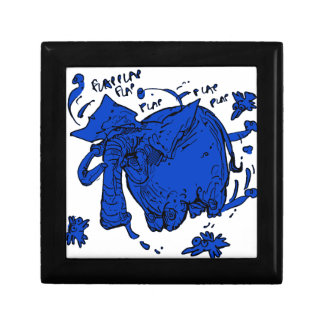 flying elephant blue gift box