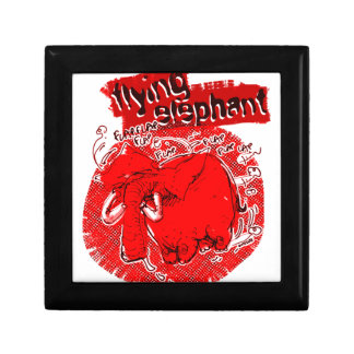 flying_elephant pure red small square gift box