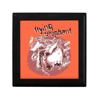 flying elephant small square gift box