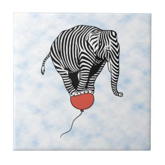 FLying Elephant Zebra Tile