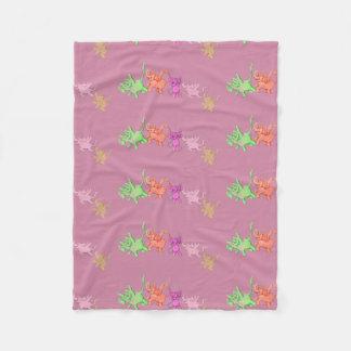 Flying Elephants Fleece Blanket