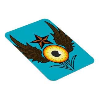 Flying Eye Star Rectangular Magnet