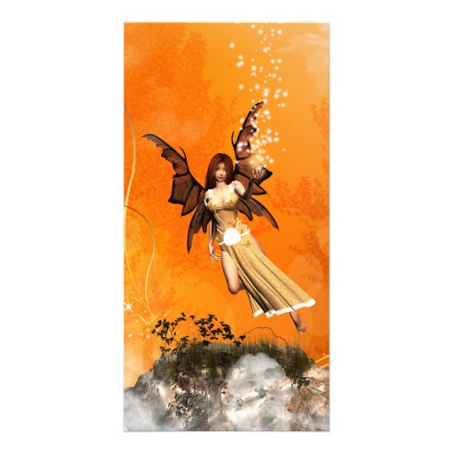 Flying fairy picture card