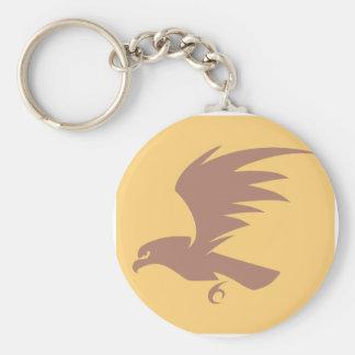 Flying Falcon Bird Icon Key Chain