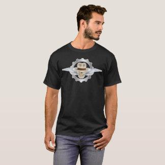Flying Fedora Skull FRONT ONLY Basic Dark T-Shirt