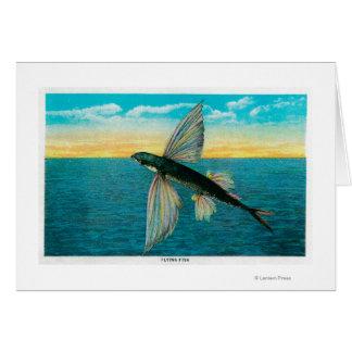 Flying Fish at Catalina Island Card