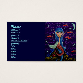 Flying Fish Mermaid and the Moon Business Card