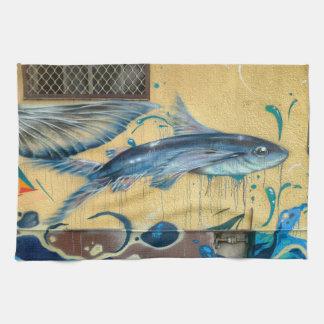 Flying Fish No.3 Tea Towel