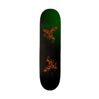Flying Flame Dragon Green Custom Skate Board