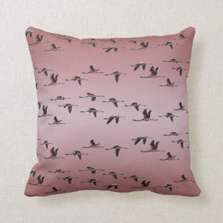 Flying Flamingos Pillow (Dusty Pink Mix)