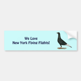 Flying Flight Black Pigeon Bumper Sticker