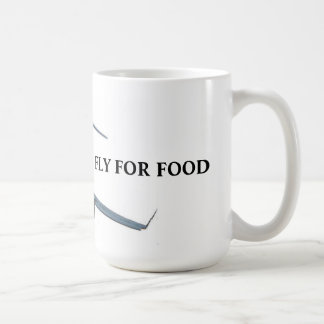 Flying for food coffee mug