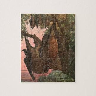 Flying Fox Bats by Austen, Vintage Wild Animals Jigsaw Puzzle