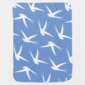 Flying Free Elegant Bird Pattern Pramblankets