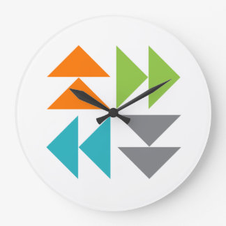 Flying Geese Quilt Block Wall Clock