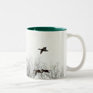 Flying Geese Two-Tone Coffee Mug