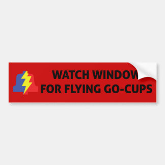 Flying Go Cups Bumper Sticker
