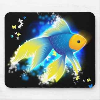 Flying Goldfish Mouse Pad