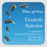 Flying Graduation Caps Announcement
