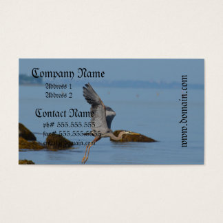 Flying Great Blue Heron Business Card
