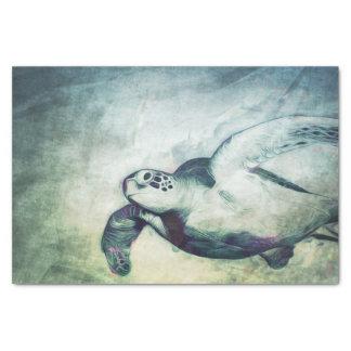 Flying Green Sea Turtle | Custom Tissue Paper