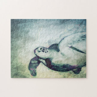 Flying Green Sea Turtle | Puzzle