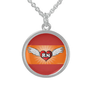 Flying Heart Nurse Necklace