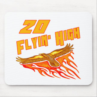 Flying High 20th Birthday Gifts Mouse Pad