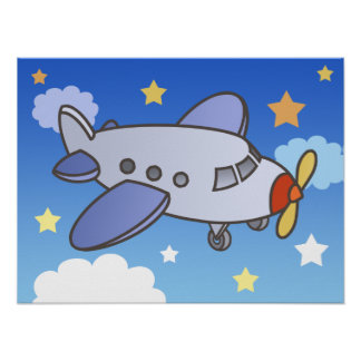Flying High Airplane Poster