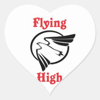 Flying High Heart Sticker