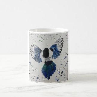 Flying high magpie mug