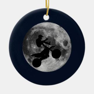 Flying High (motocross) Ceramic Ornament