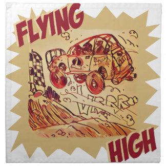 flying high rally car napkin