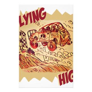 flying high rally car stationery