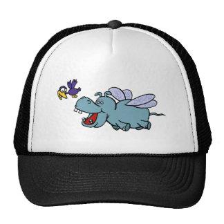 Flying Hippo Bird Hat