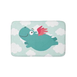 Flying Hippo Illustration Bath Mat