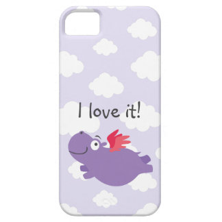 Flying Hippo Illustration Case For The iPhone 5