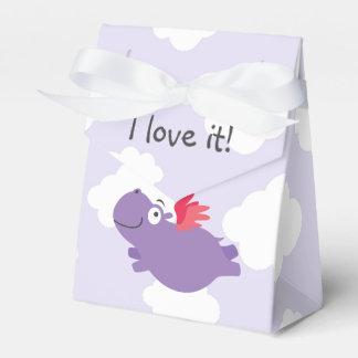 Flying Hippo Illustration Favour Box