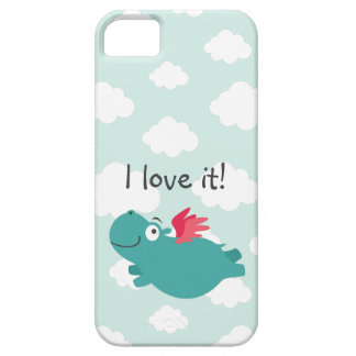 Flying Hippo Illustration iPhone 5 Case