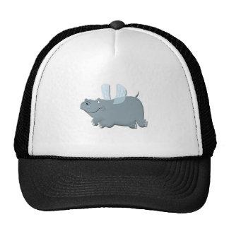 Flying Hippo Mesh Hats