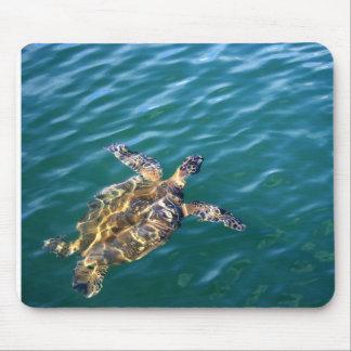 Flying Honu Mousepad -  Green Sea Turtle