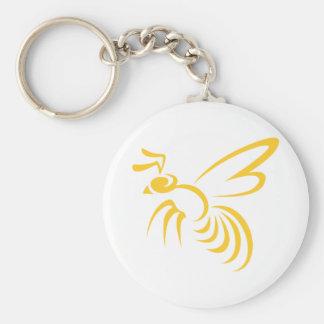 Flying Hornet Basic Round Button Key Ring