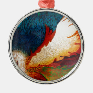 Flying Horse 2 Metal Ornament