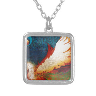 Flying Horse 2 Silver Plated Necklace