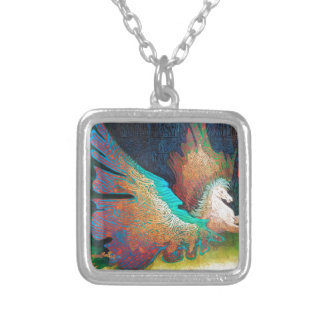 Flying Horse Silver Plated Necklace