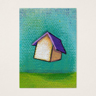 Flying house traveling home fun colorful happy art