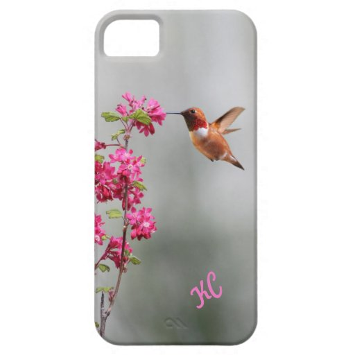 Flying Hummingbird and Flowers iPhone 5 Covers