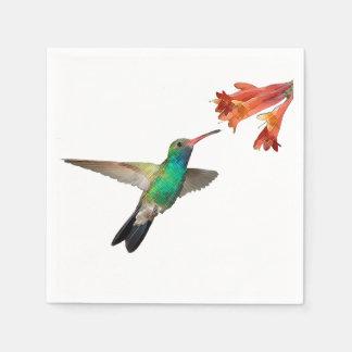Flying hummingbird paper napkins. paper napkins