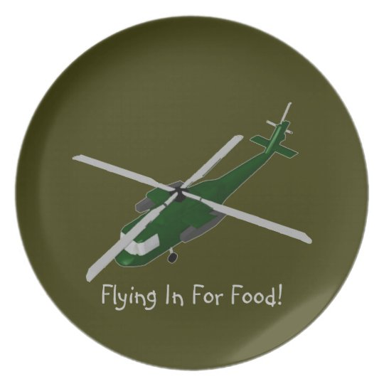 Flying In For Food Plate